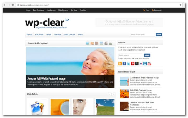 WP-Clear – News Website Template