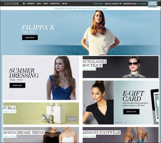 Cocosa is a responsive e-commerce site