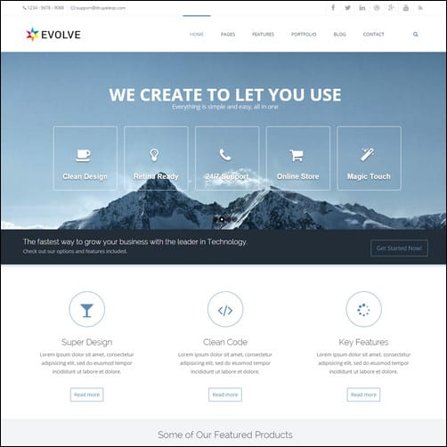 Evolve - MultiPurpose, Creative Drupal 7 Theme