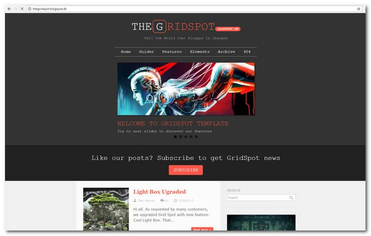 Grid Spot - Responsive Blogger Template