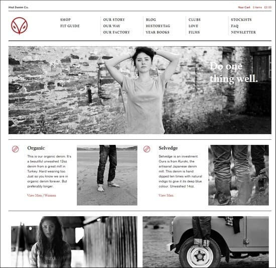 Hiut Denim is a responsive e-commerce site