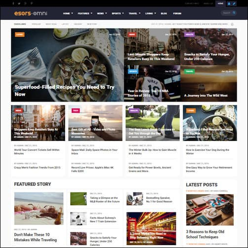 Omni - 3 in 1 - Multi-purpose Business & Magazine Styles Drupal Themes