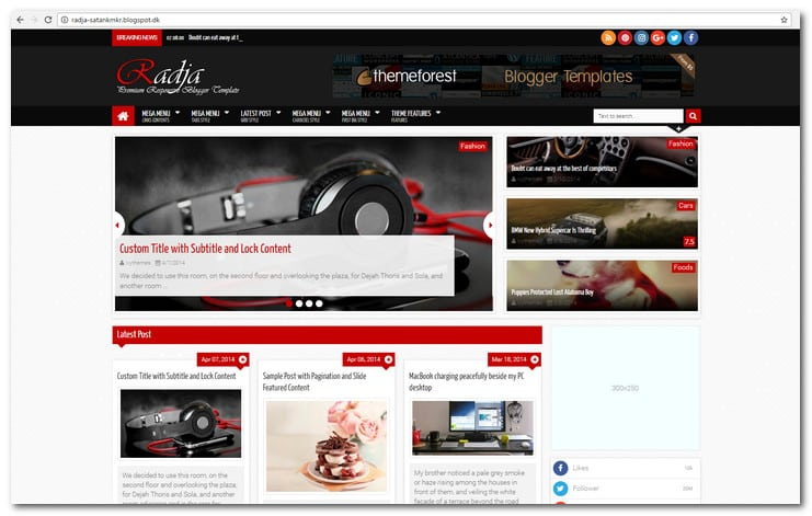 15 best responsive blogger templates how to get a stylish blog radja responsive blogger template maxwellsz