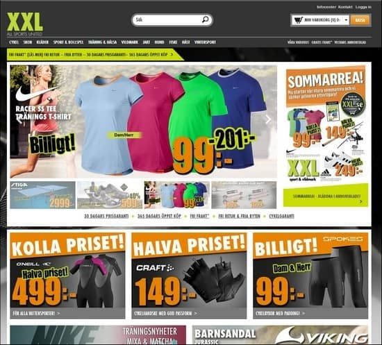 XXL is a resposnive e-commerce site