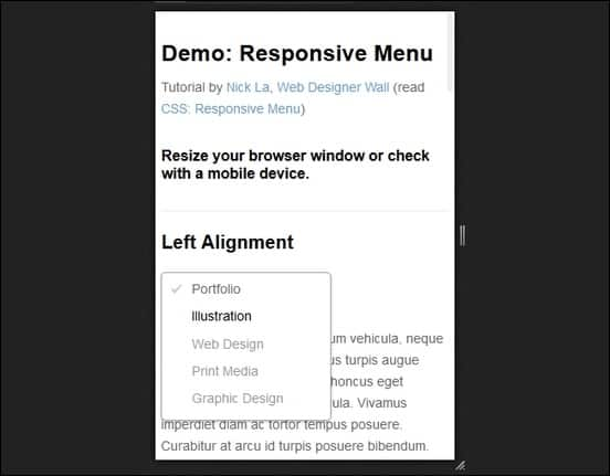 a tutorial on how to buils a responsive menu withour using JS