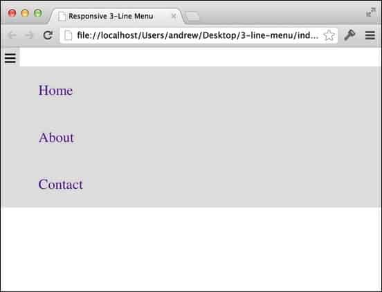 This tutorial will teach you how to create a three line dropdown menu using jquery