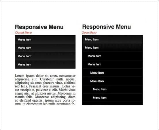 a tutorial of how to create a responsive drop down menu