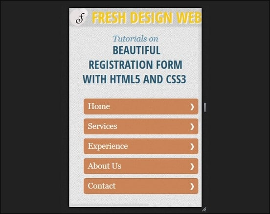 A responsive menu tutorial using css3