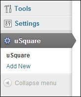 uSquare-Plugin-in-Dashboard