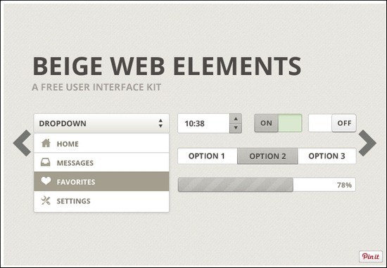 Beige-Web-Elements