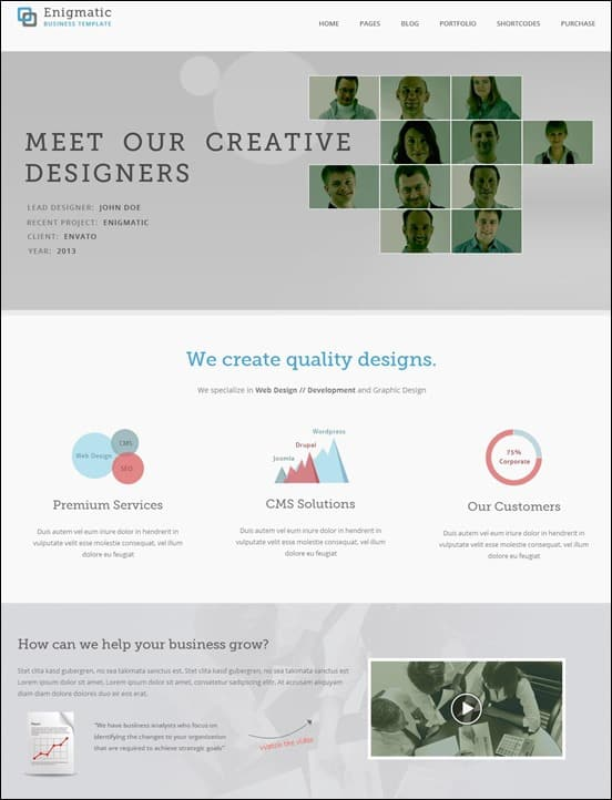 Enigmatic - Responsive Multipurpose HTML Template
