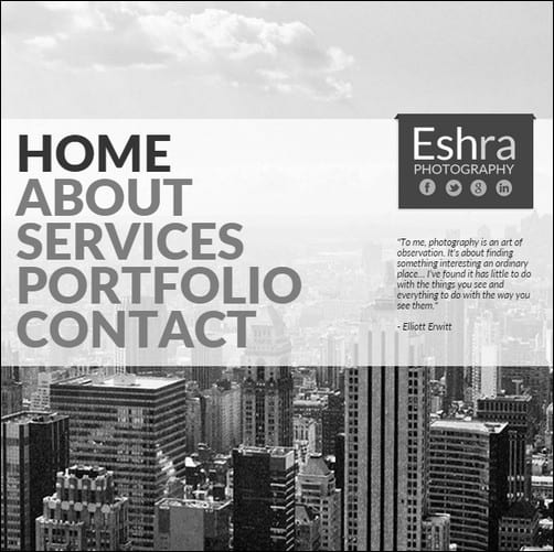 Eshra Photography Muse Theme