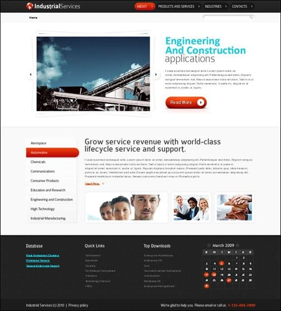 Free HTML5 Website Template for Industrial Business
