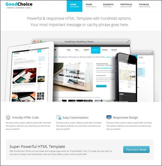 GoodChoice Responsive HTML Template