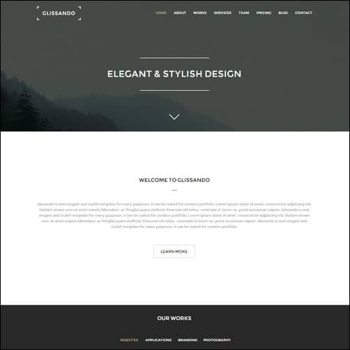 Glissando - Creative Muse Template