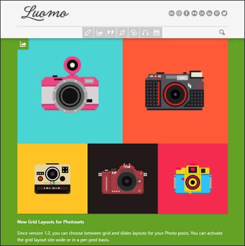 Luomo - A Responsive & Expressive Tumblr Theme