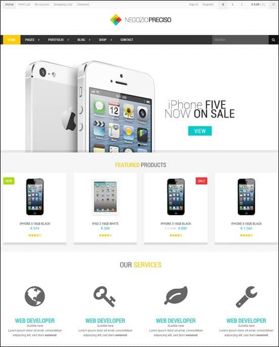 Preciso - Responsive Bootstrap eCommerce Template