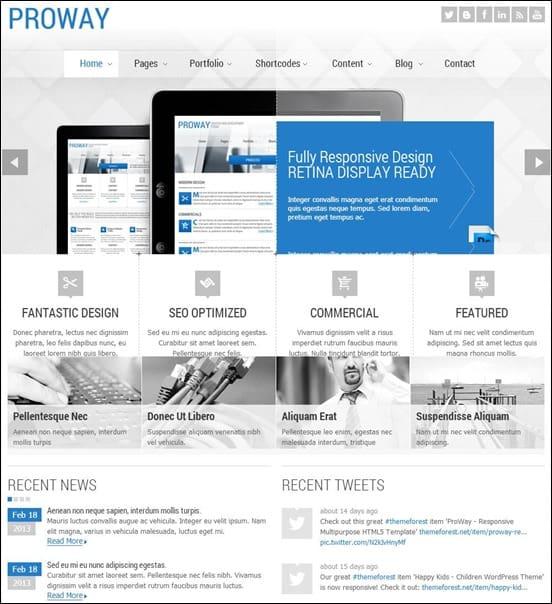 ProWay - Responsive Multipurpose HTML5 Template