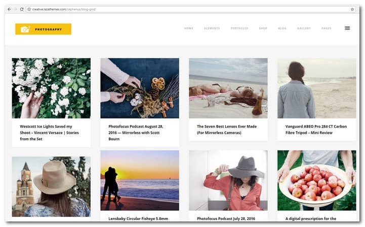 Photography, Portfolio & Gallery WordPress Theme Cephenus