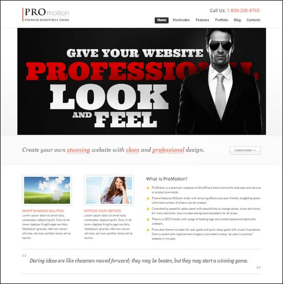 promotion is a clean beautiful theme used to create business websites