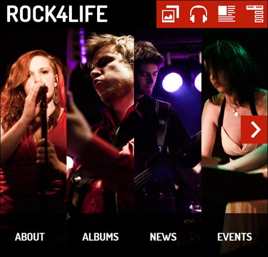 Rock4Life- Responsive WP-Theme for Bands/Musicians