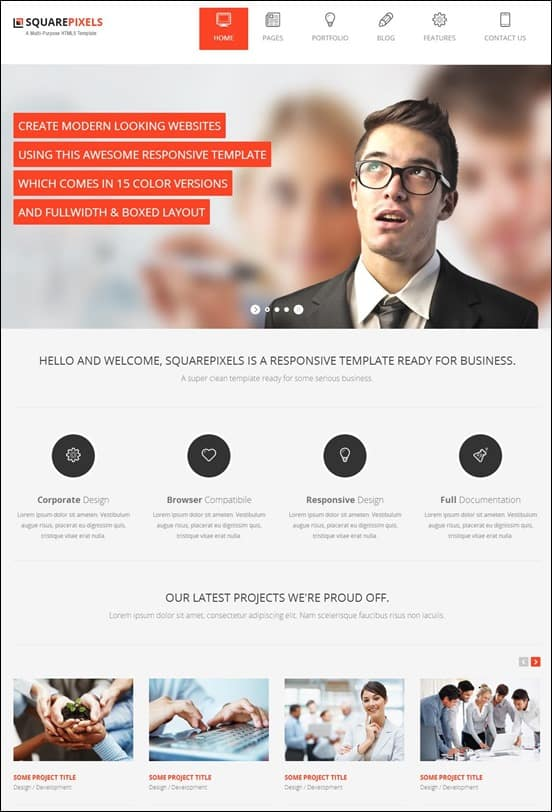 SquarePixels - Multi-Purpose HTML5 Template