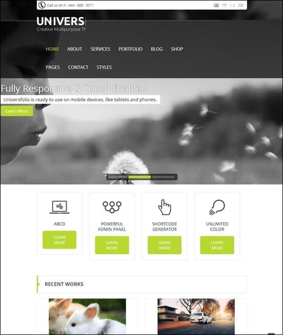 Universfolio-Multipurpose-Joomla-Template