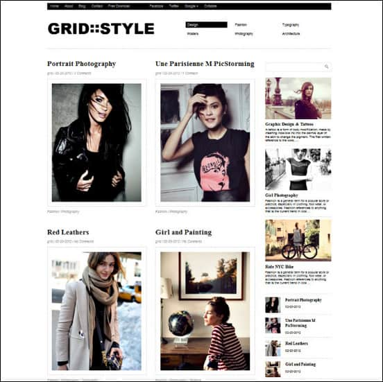 grid style is a clean and elegant free wordpress theme that can be used to create beautiful portfolio website