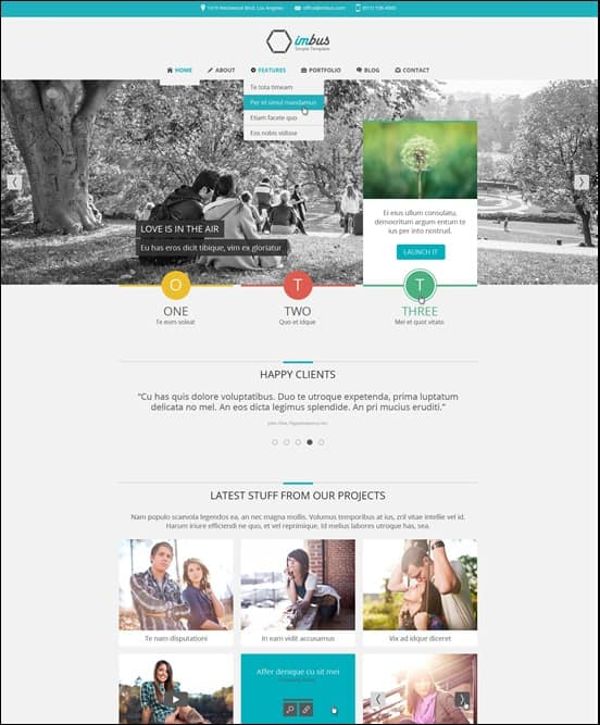 imbus - Simple HTML Template