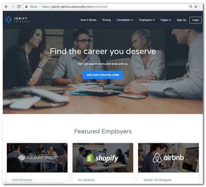 jobify home page