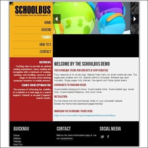schoolbus-concrete5-theme