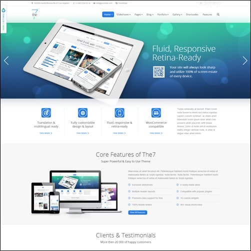 the7 multi purpose WordPress business themes