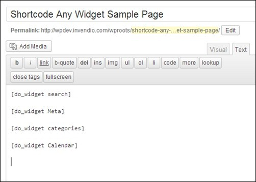 Adding-Shortcodes-inside-Page