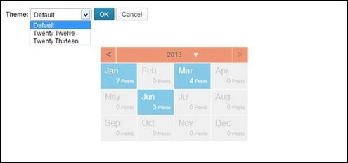 How to Make Your Archives Widget in a Calendar Form