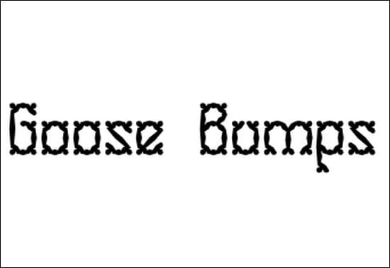 Goose-Bumps-Font