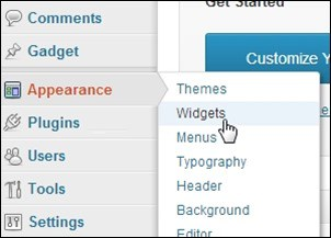 Widgets-in-Appearance-tab