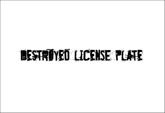 DestroyedLicensePlate