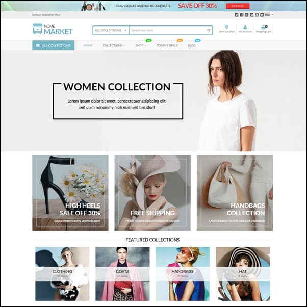 Home Market Flexible Shopify Theme