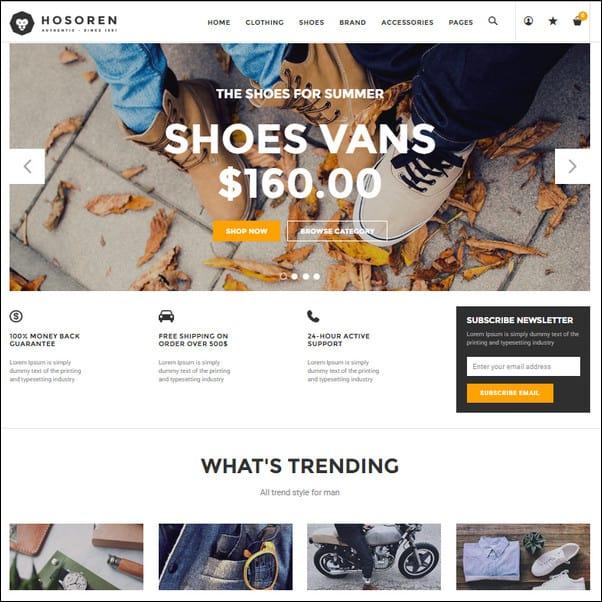 Hosoren Responsive Shopify Theme