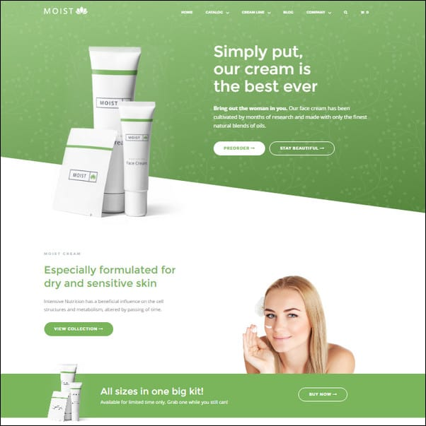 Moist Single Product Responsive Shopify Theme
