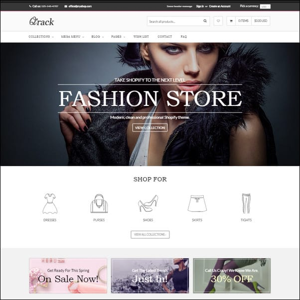 Qrack Responsive Shopify Theme