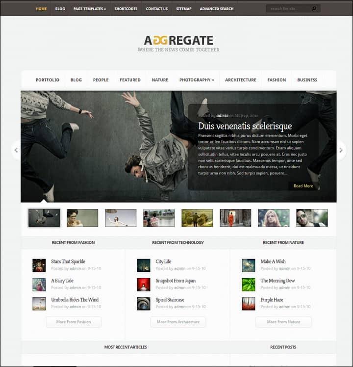 Aggregate Magazine Theme