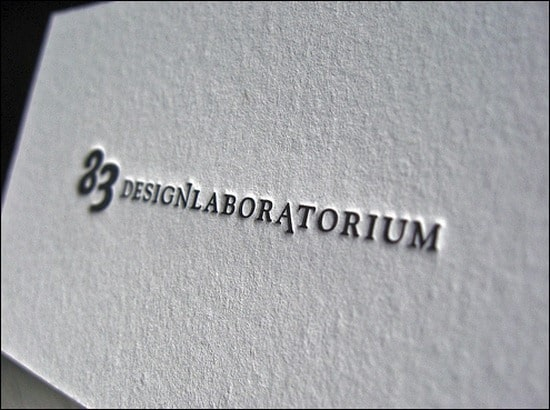 45+ Brilliant Letterpress Business Cards