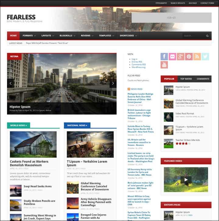 fearless bold modern responsive multipurpose magazine