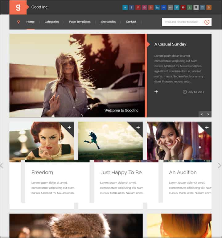 goodinc flat responsive wordpress blog news theme