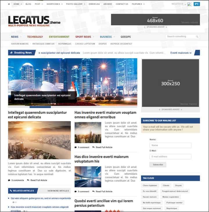 legatus responsive newsmagazine theme