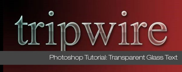 Photoshop Tutorial, Create Logo with Transparent Glass Text