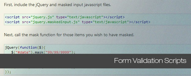 Truly Useful Form Validation Scripts for Front End