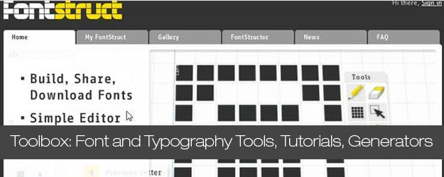 70+ Awesome Font and Typography Tools, Tutorials, Generators and Inspiration