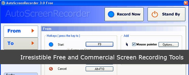 35 Irresistible Free and Commercial Screen Recording Tools